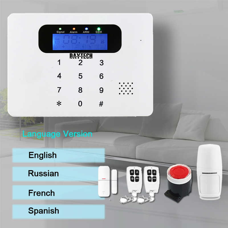 DAYTECH Беспроводная GSM сигнализация комплект Детектор движения датчик охранная сигнализация система домашней безопасности аудио/домофон управление приложением