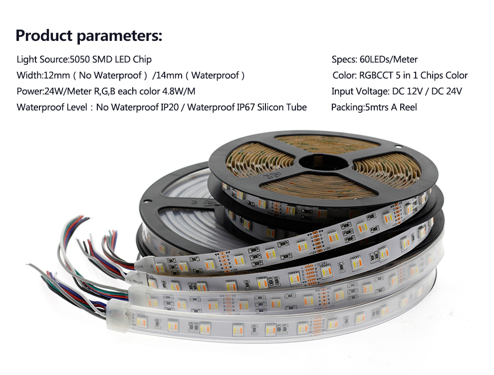 5 in 1 chips LED Strip Light 5050 (9)