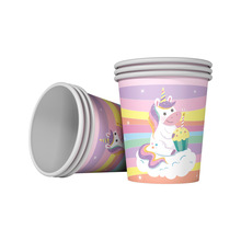 Lovely Unicorn theme Party Supplies Paper Cups Glass Happy Birthday Decoration 10pcs/lot