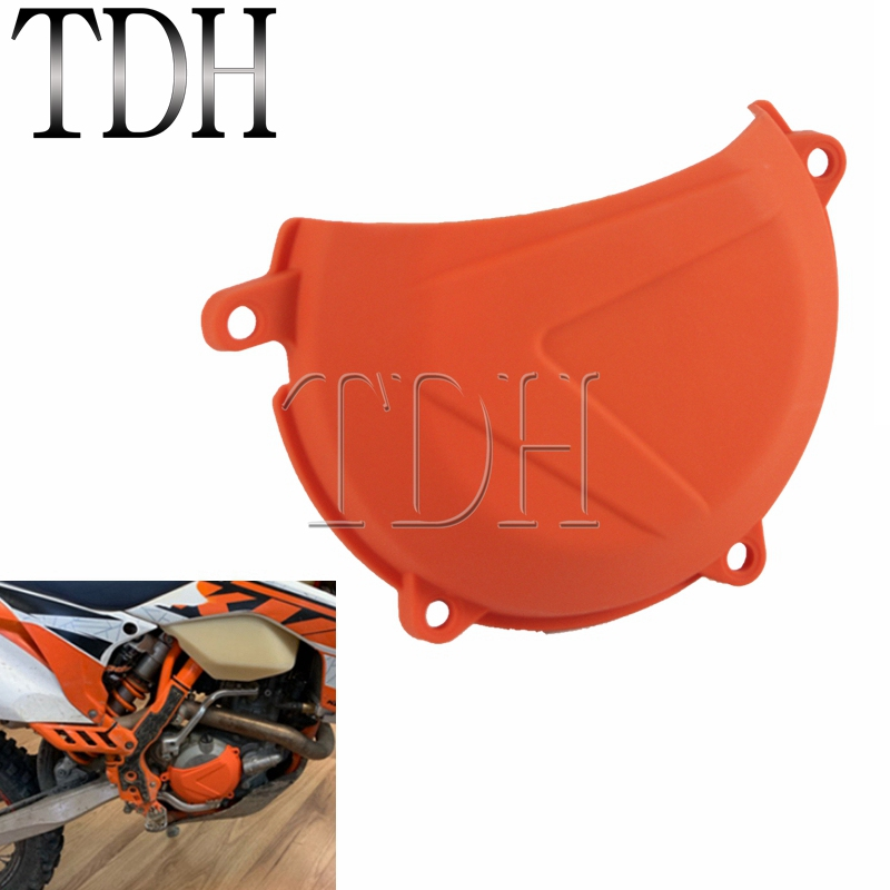 Orange ABS Plastic Engine Clutch Cover Protector Protection Guard For <font><b>KTM</b></font> EXC XCW 450/500 2012-2016 <font><b>SXF</b></font> XCF 450 2013 2014 <font><b>2015</b></font> image