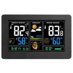 Внутренняя наружная метеостанция, цифровая цветная станция с датчиком, домашний будильник с температурными оповещениями, зарядка США