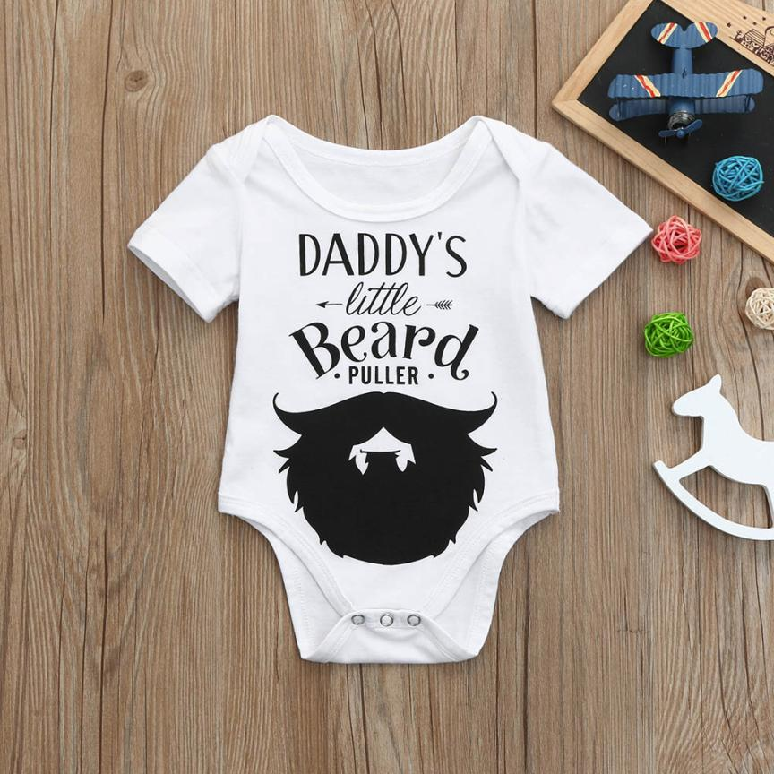 Cute Newborn Kids Baby Letter Print Boys Girls Outfits Clothes Romper Jumpsuit psw0704