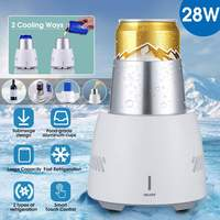 28W Instant Cooling Equipment Cup 350ML Summer Quick Cooler Electric Cooler Cup Mug Holder Machine for Beverage Yogurt Jelly