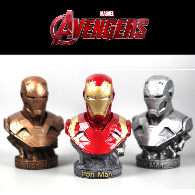 The Avenger 3 iron man black panther thanos statues for decoration 18cm resin statuette collectible action figures gifts