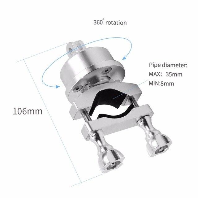 ヘルメット 360 スイベル回転バー 22-32 ミリメートルのためのマウント Selfshot アーム 5/4/3 3 + プラス/Sjcam/李サイクリングスカイダイビングスキーシルバー