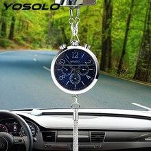 Yosolo автомобиль-Стайлинг автомобиль часы Салонные аксессуары духи пополнения хранения висит кулон орнамент автомобиль Зеркало заднего вида украшения