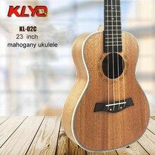 23 дюймов Укулеле Четыре Струны Гитары 18 Flets Красного Дерева Мини Акустическая Гитара Портативный Закрытая Ручка Укулеле Небольшой Guitarra KL-02C(China (Mainland))