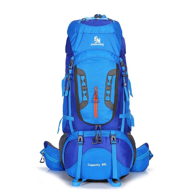 Escalada al aire libre bolsas 80L Nylon marco externo senderismo mochilas Unisex viaje impermeable hombre mujer Camping senderismo mochila - 6