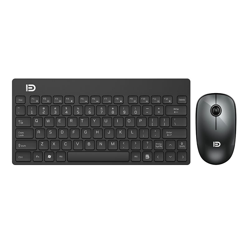 fd 2 4ghz silent wireless technology mini portable wireless keyboard and mouse set black in. Black Bedroom Furniture Sets. Home Design Ideas