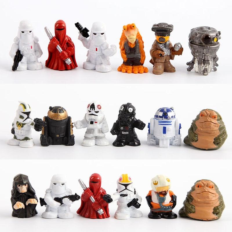 18 pcs Star Wars Black Series Darth Vader figura toy set 2016 New star wars force awakens action figurine party  decoration