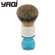 Yaqi 24mm Aqua Highmountain Silvertip Badger Hair Shaving Brush 24mm yaqi two band badger hair brushes for razor
