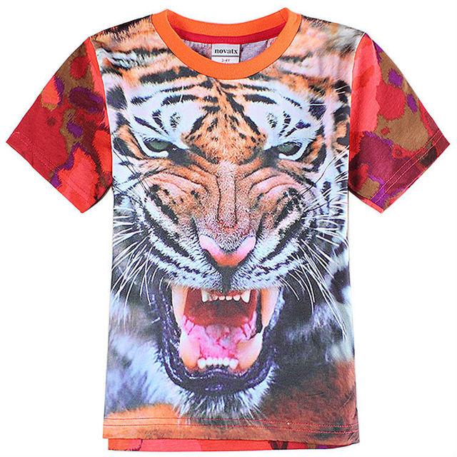 Nova marca del bebé camiseta para el niño tops y las camisetas kids clothes camiseta de impresión tigor ropa de los niños C6078