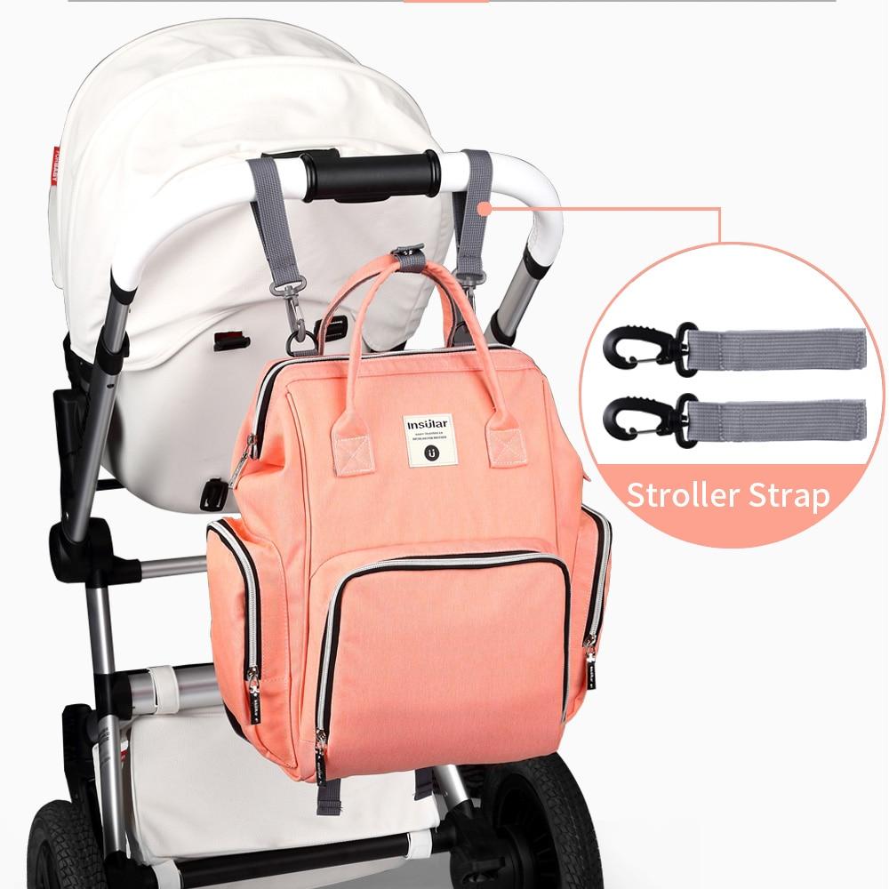 Moda mamá bolsa de pañales de maternidad marca de gran capacidad - Pañales y entrenamiento para ir al baño - foto 4