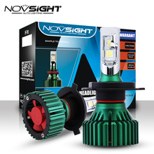 NOVSIGHT 60 Вт 16000лм H4/HB2/9003 Автомобильный светодиодный светильник на голову, противотуманный светильник для вождения, двухлучевые лампы для игр и вилок, 6500K D45