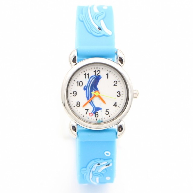2018 3D Cartoon fashion dolphin silicone design kids Watch Children Girls Boys S