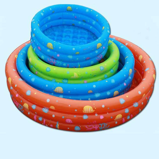 Intime Inflatable Kiddie Pool Outdoor Swimming Pool Bathing Tub Outdoor  Water Sports Garden Ball Playing Pool