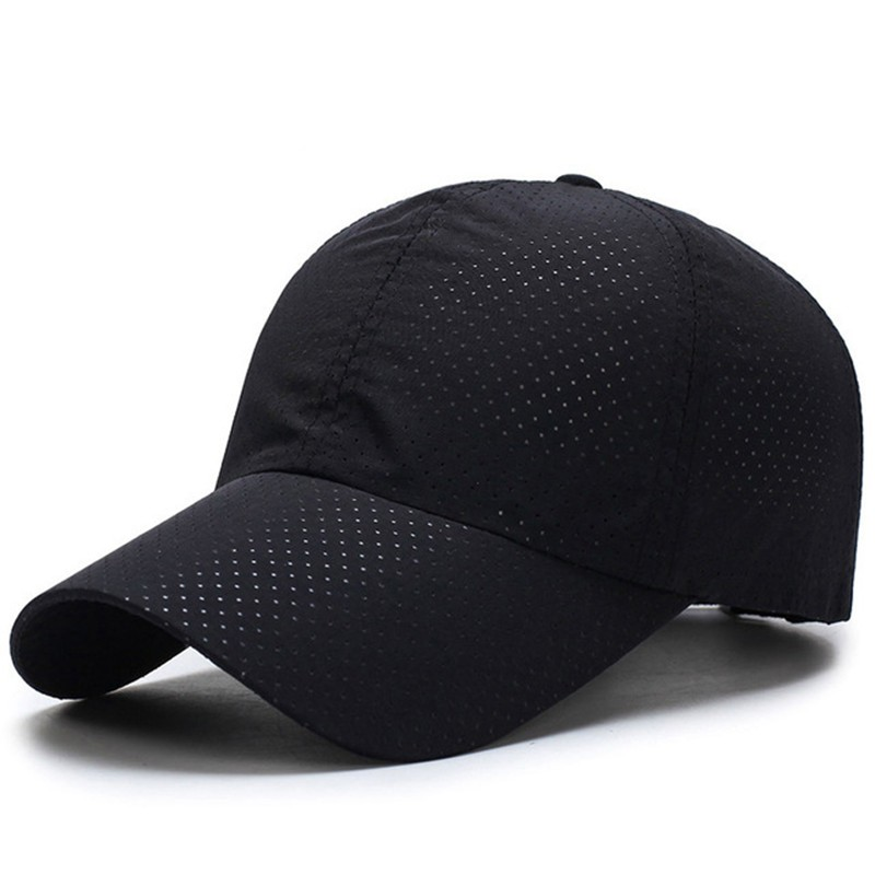 Men Women 2018 Summer Snapback Quick Dry Mesh Baseball Cap Sun Hat Bone Breathable Hats