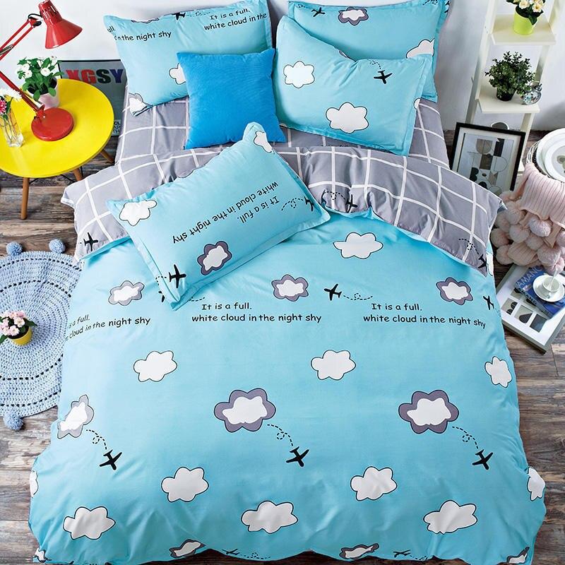 Solstice Home Textile 2018 Fashionable Skin Comfortable Breathable Aloe Cotton Bedding Sheets Quilt Cover Pillowcase 3/4pcs
