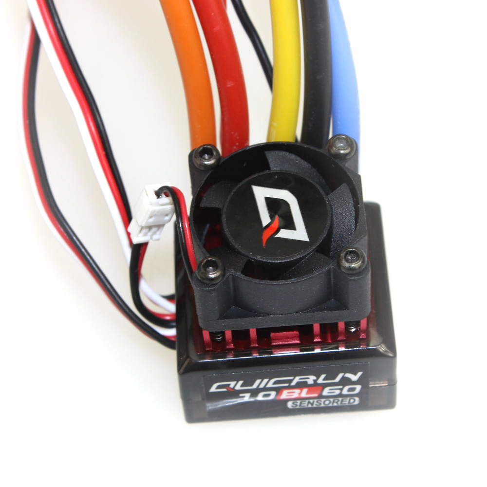 Hobbywing QUICRUN 10BL60 Sensored 60A 2 3S Lipo BEC Speed Controller Brushless ESC for 1 10 1 12 RC Car F17874 in Parts Accessories from Toys Hobbies