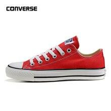 Converse All Star/Классическая парусиновая обувь для скейтбординга с низким верхом, унисекс, красная, нескользящая, Sneakser, Размеры 35-44