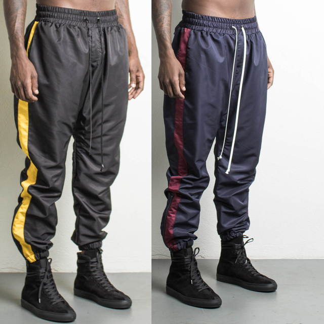 2900be569cf High quality 2017 Mens Flying Squirrel Pants Men Hip hop Streetwear Fashion  Sagging Pant Solid Black Elastic Waist Pencil Pants