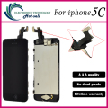 1 unids/lote calidad original para iphone 5c lcd display + touch screen digitizer + botton casa + marco del bisel + frontal cámara de montaje completo