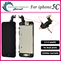 1PCS/LOT Original Quality For Iphone 5C LCD display+touch screen digitizer+home botton+bezel frame+front camera full assembly