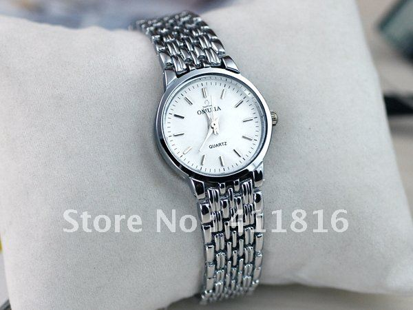 c0330e872 Women's classic business formal dress watch,Stainless band,clock waterproof  shockproof antimagnetic,100%new,wholesale&retail