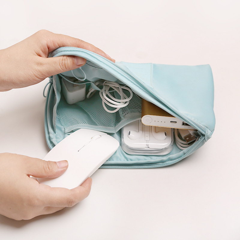Multi-function digital product storage bag travel Charger data line and headset organizer High grade  waterproof Cosmetic Bag ...
