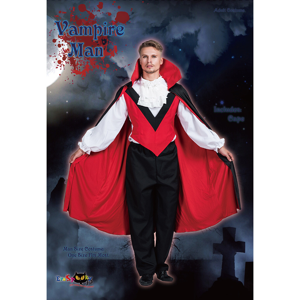 Vampire Cloak Costume Death Cloak Ghost Cape Cloaks Witches Black And Red Cloak Halloween Carnival Party Cosplay Costume