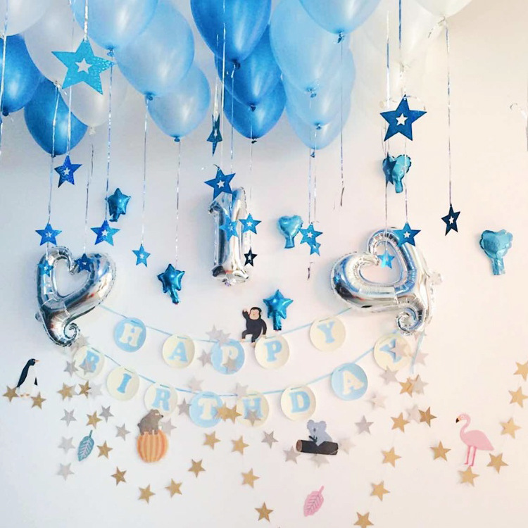 4m wholesale Star Paper Hot Banner Drop Garland for Baby Shower Birthday Wedding Party Decoration