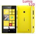 """Оригинальный 520 телефон Nokia Lumia 520 сотовый телефон двухъядерный 8 ГБ ROM 5-мп GPS Wifi 4.0 """" IPS открыл окна телефон восстановленное"""