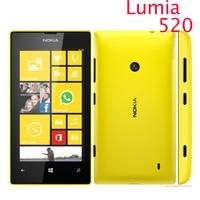 520 original do telefone nokia lumia 520 telefone celular dual core 8 gb rom 5mp gps wifi 4.0