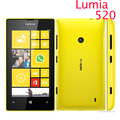 "Original 520 phone Nokia Lumia 520 cell phone Dual core 8GB ROM 5MP GPS Wifi 4.0"" IPS unlocked windows phone Refurbished"