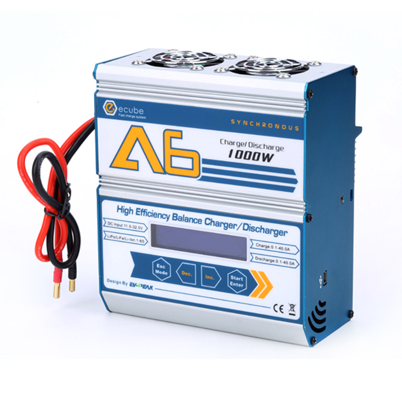 2017 new 1000w a6 40a Lithium battery charger  fast charger with USB port 5 v / 1a for rc helicopter UAV battery four axis aircraft lithium battery accessories for udi u842 u842 1 u818s helicopter 3pcs battery and 6 in 1 charger