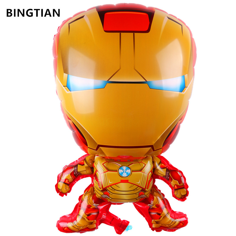 BINGTIAN IRONMAN Cartoon Balloon Shaped Cute Baby Wedding Birthday Party Favorite Must-gold Iron Man Party Decorations Balloon