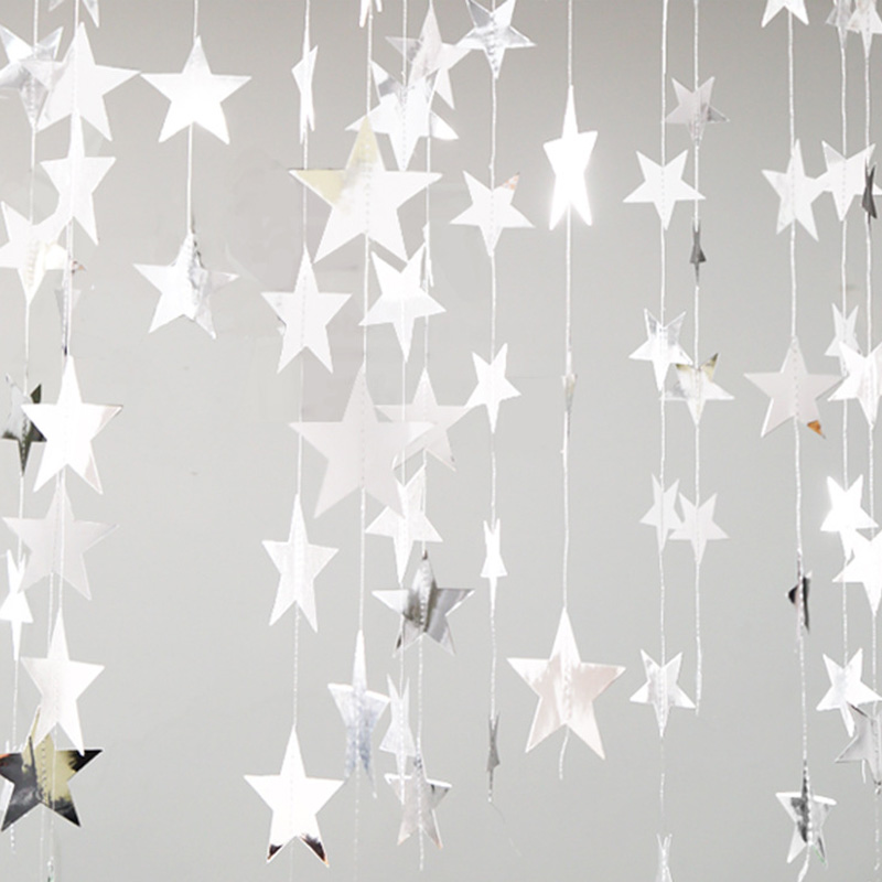 1 Set 4M Star Paper Banner Garlands DIY Birthday String Chain Banner Ornaments Curtain Wedding Christmas Party Room Decor P20