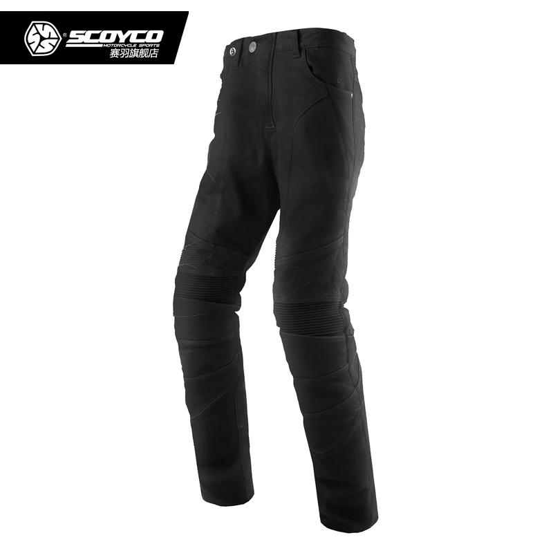 Scoyco P036 Winter Warm Motorcycle Racing Pants Pantalon Moto Motocross Pants Sport Trousers Moto bike Jeans With Knee Pads scoyco mens motorcycle pants racing trousers winter summer p028