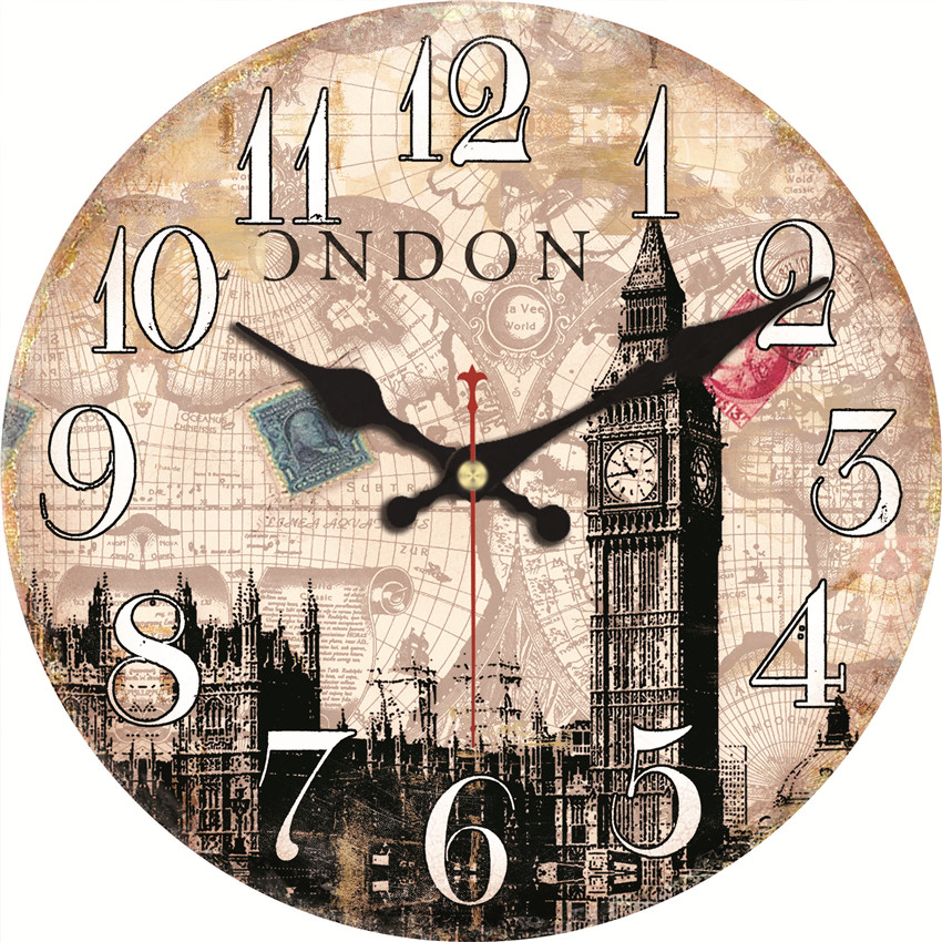 Statue Of Liberty Wall Clock Big Ben Design Relogio De Parede Large Silent For Living Room Saat Home Decoration Watch Wall Gift