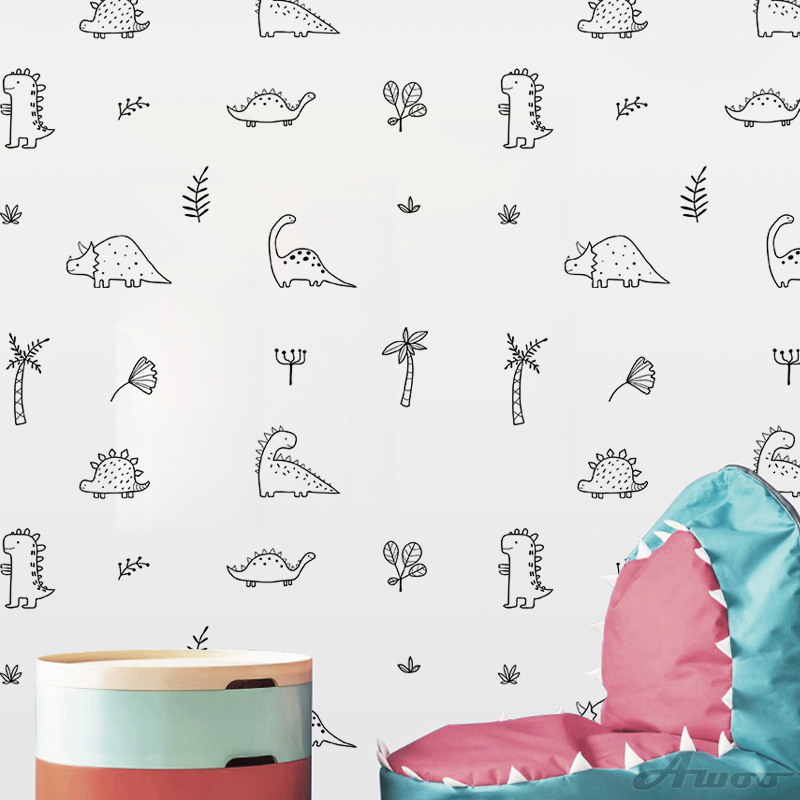 YQT069 Creative Animal Wall Sticker Wallpaper Furniture Cabinets Decal Kids baby Room Decoration Home Decor