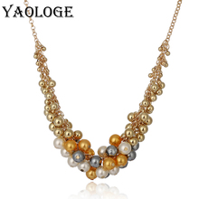 YAOLOGE 2018 Necklaces Pearl Pendant Necklace For Women Necklace jewelry Wholesale Korean Version Retro Pearl Necklace Hot New fashionable retro elegant necklace delicate necklace alloy necklace necklaces wholesale brand the boat