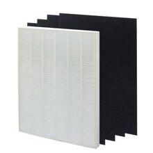 4 шт. Очиститель Воздуха Части Углерода предварительные фильтры и 1 шт. Основных HEPA фильтр для Winix 115115 5300 5500 6300