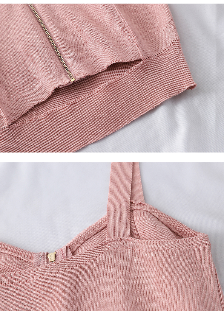 HTB1lovsaUH1gK0jSZSyq6xtlpXa1 - HELIAR Tops Women Crop Top Club Sexy Zipper Knitting Camisole With Hole Female Tank Tops Ladies Sleeveless Solid Strap Top Women