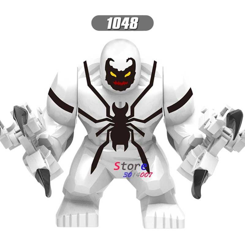 Único Tamanho Grande Carnificina Maravilha Anti-Motim Veneno Veneno Agonia Lasher Toxina Grito Thanos Hulk buster Figuras Building Blocks brinquedos