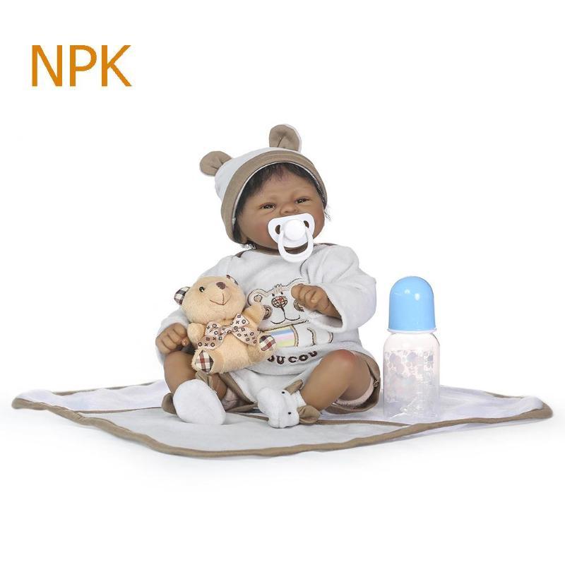 NPK 40 cm Silicone souple Reborn bébé poupée fille jouets réalistes bébés Boneca plein vinyle mode poupées Bebe Reborn Menina