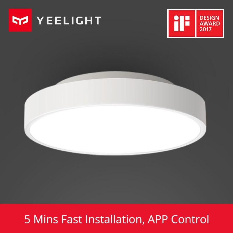 2019 Nova Original Xiao mi mi APP WIFI Bluetooth Yeelight Lâmpada Luz de Teto Remoto Inteligente de Controle Inteligente LED Cor IP60 à prova de poeira