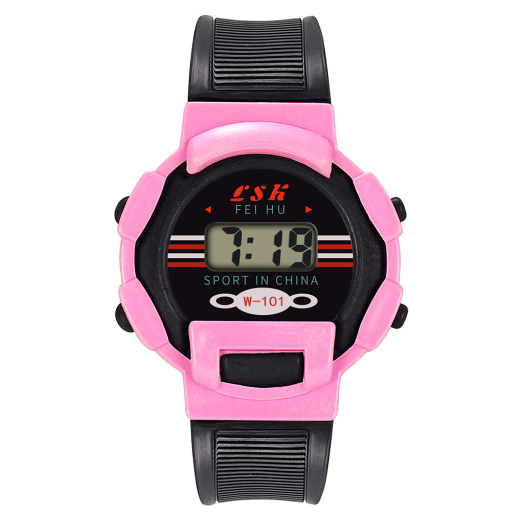 Children's watch Children Girls Analog Digital Sport LED Electronic Waterproof Wrist Watch New Wristwatch Clock Gift Dropship#7