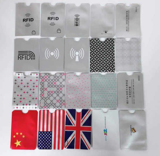 Hjkl Anti RFID Dompet Memblokir Reader Kunci Kartu Bank ID Kartu Bank Kasus Perlindungan Logam Pemegang Kartu Kredit Aluminium tas