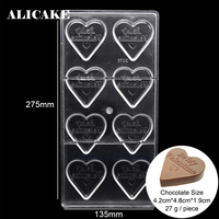 3D Heart Baking Form of Chocolate Dessert Pastry Tools Molds for Baker Party Be My Valentine Day Polycarbonate Candy Mould Tray|Baking & Pastry Tools| |  -