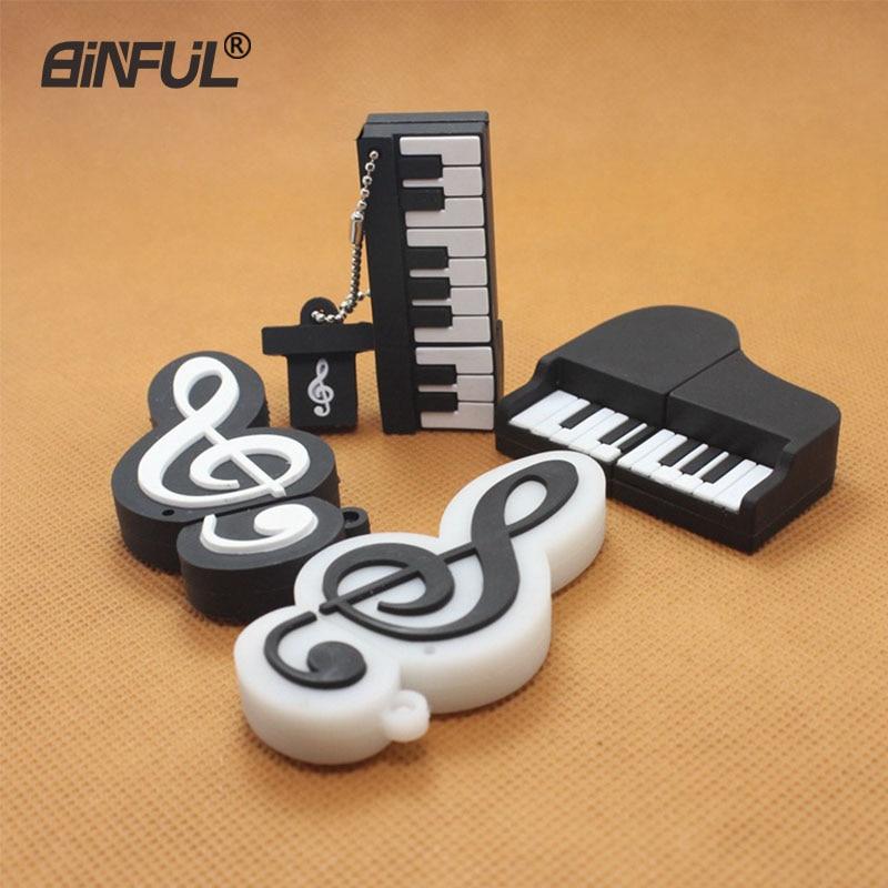 Music Pendrive Piano Shape USB Flash Drive 4gb 8gb 16gb 32gb 64gb Music Usb Stick USB 2.0 Pen Drive Memory Flash Stick U Disk